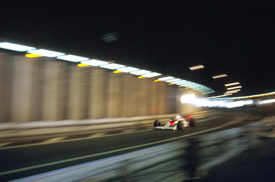 Ayrton Senna Monaco tunnel