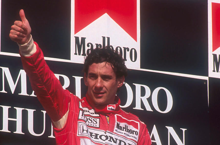 Ayrton Senna Marlboro on the podium