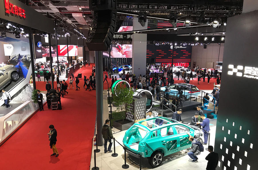 Shanghai motor show floor