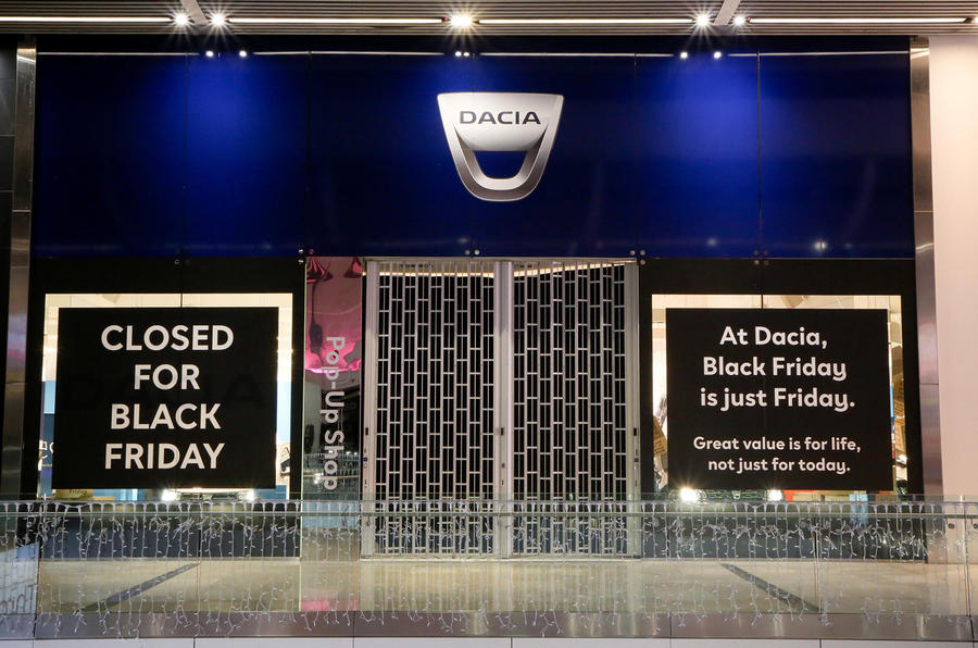 Dacia's shop closed for Black Friday