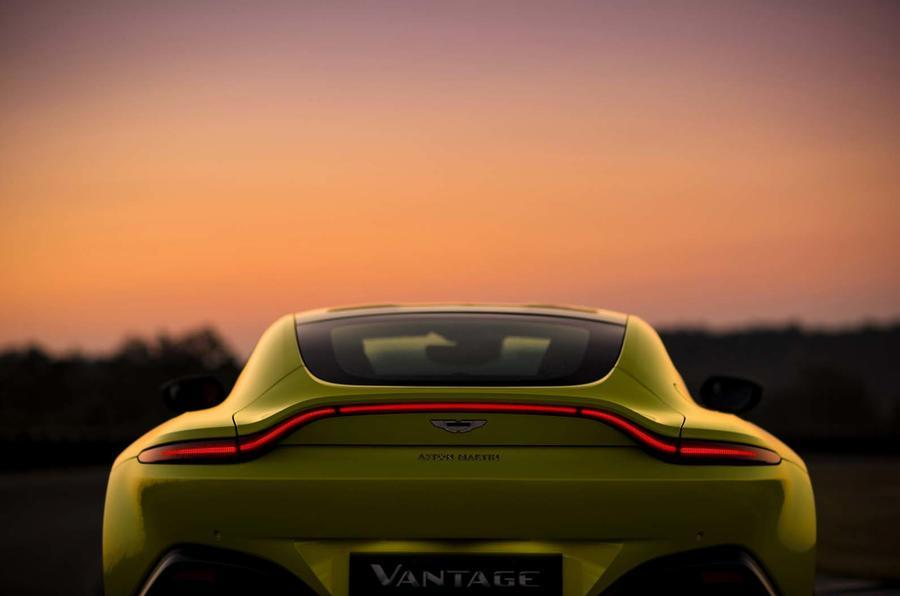 The rear of the Aston Martin Vantage