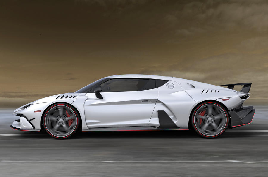 Italdesign V10 supercar from side