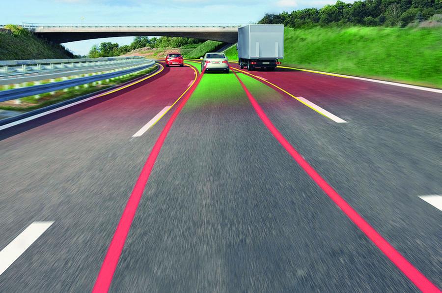 Motorway driving simulation