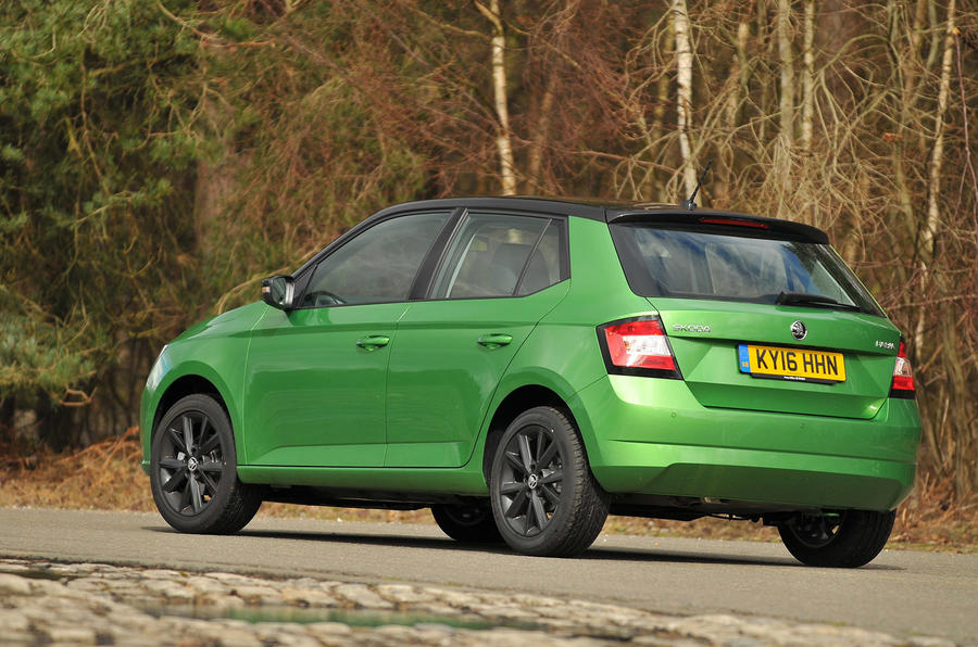 2016 skoda fabia 1 2 tsi 90 colour edition review review autocarskoda fabia colour edition rear