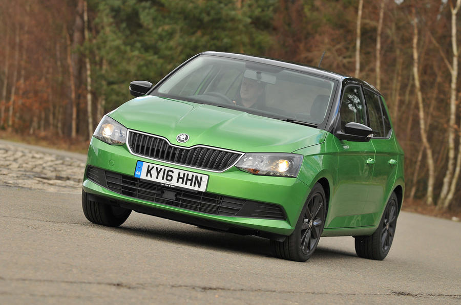 Skoda Fabia Colour Edition cornering