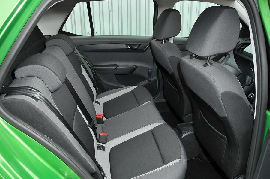 Skoda Fabia Colour Edition rear seats