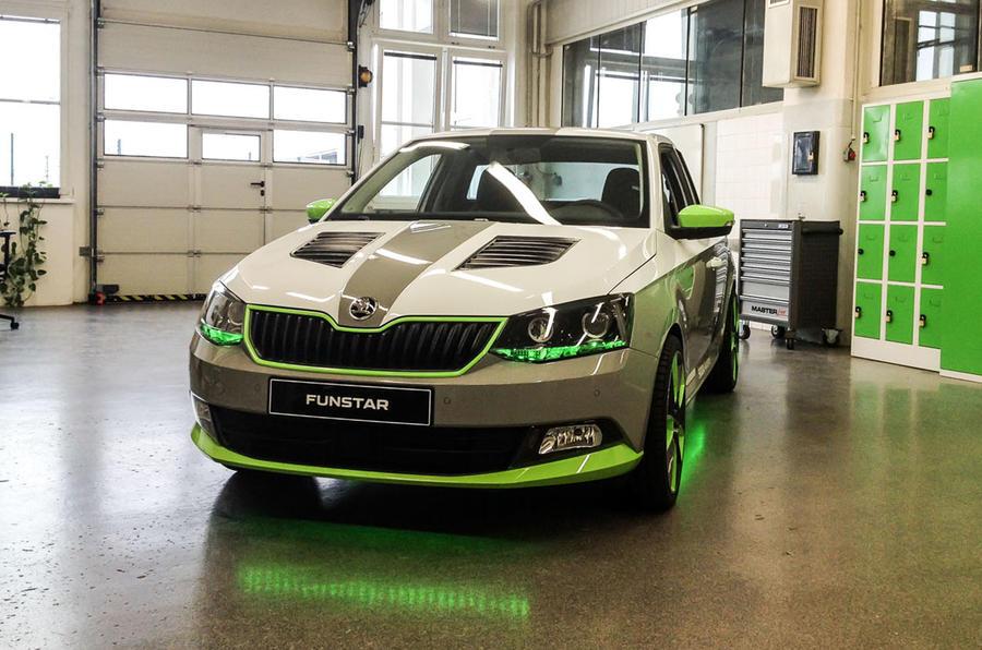 Skoda Unveils Fabia Funstar Pickup Concept Car