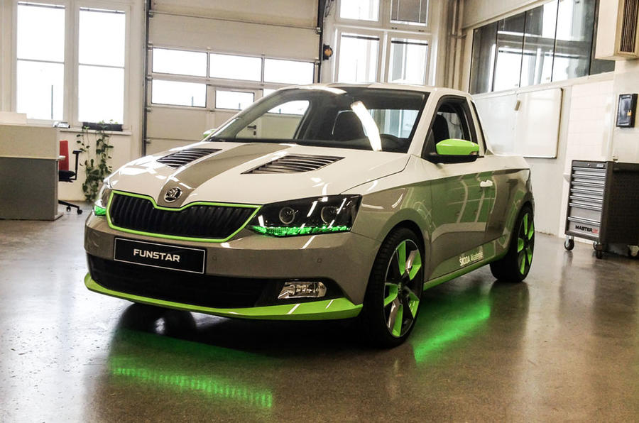 Car Show 2015 >> Skoda unveils Fabia FUNstar pickup concept car | Autocar