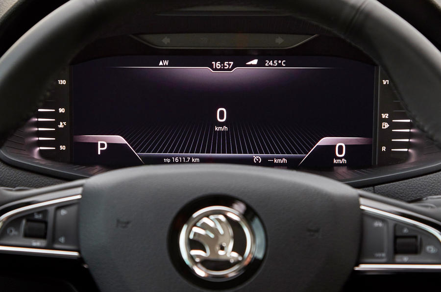 Skoda Karoq active virtual display