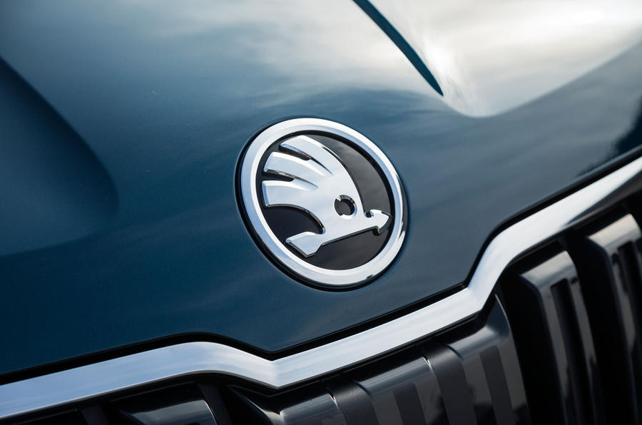 Skoda Karoq bonnet badge