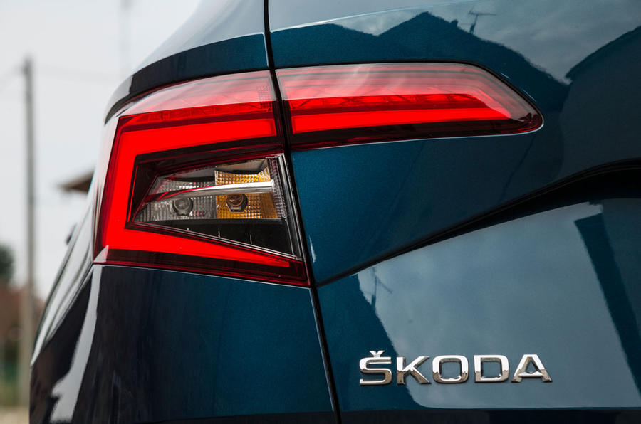 Skoda Karoq rear lights