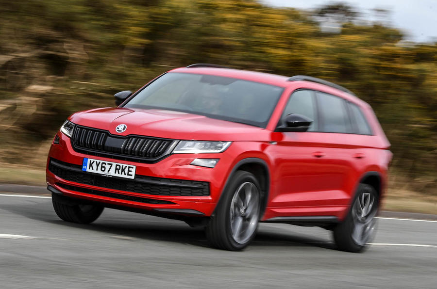skoda kodiaq 4x4 sportline 2018 uk review autocar. Black Bedroom Furniture Sets. Home Design Ideas