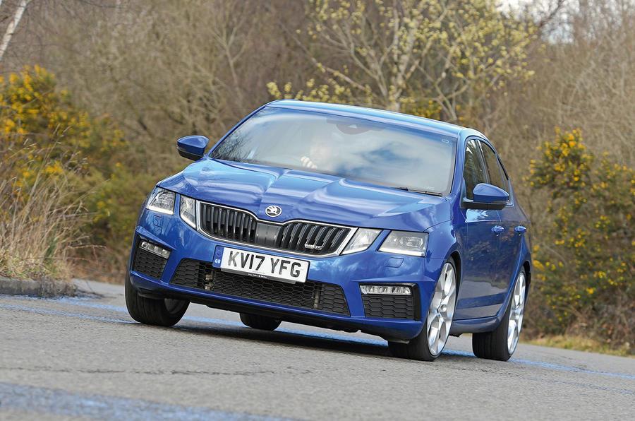 Skoda Octavia vRS diesel longterm review front cornering