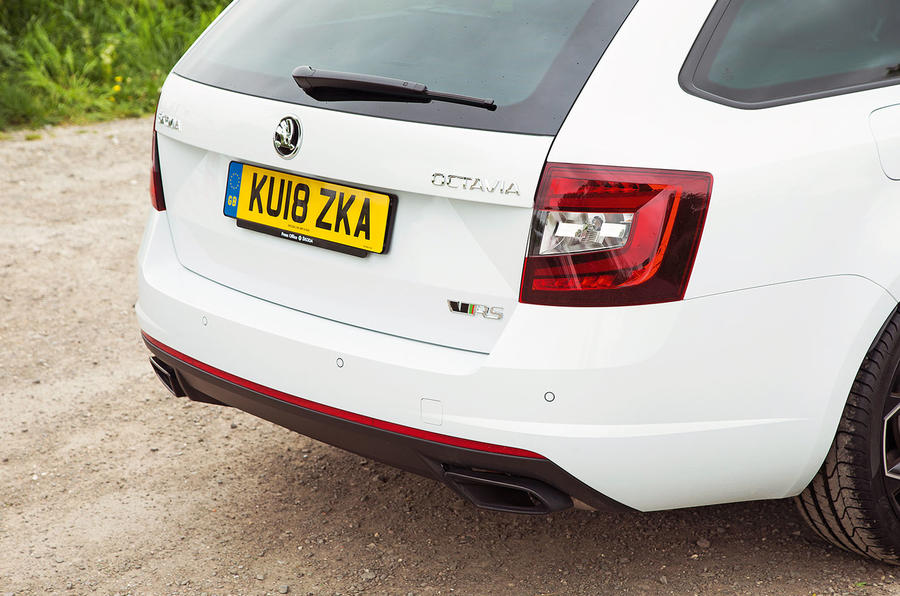 Skoda Octavia vRS diesel longterm review 245 rear end