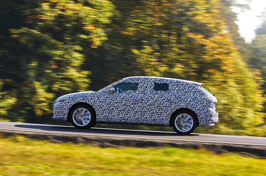 Camouflaged Skoda Scala side
