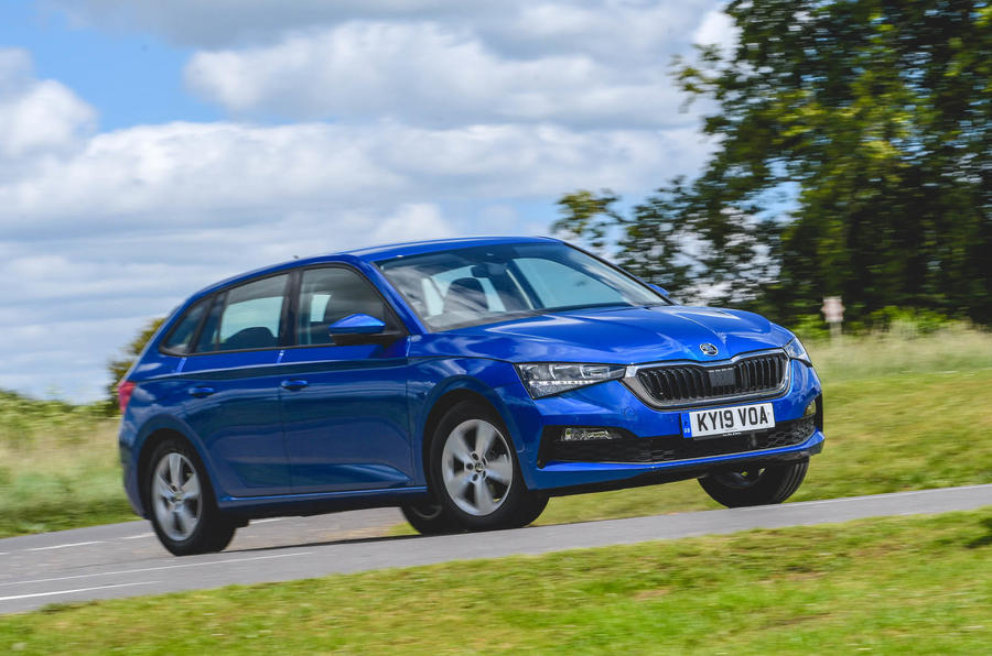 Skoda Scala 2019 UK first drive review - hero front