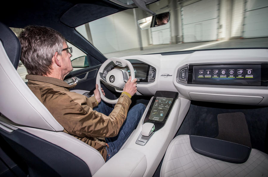 Driving the Skoda Vision S
