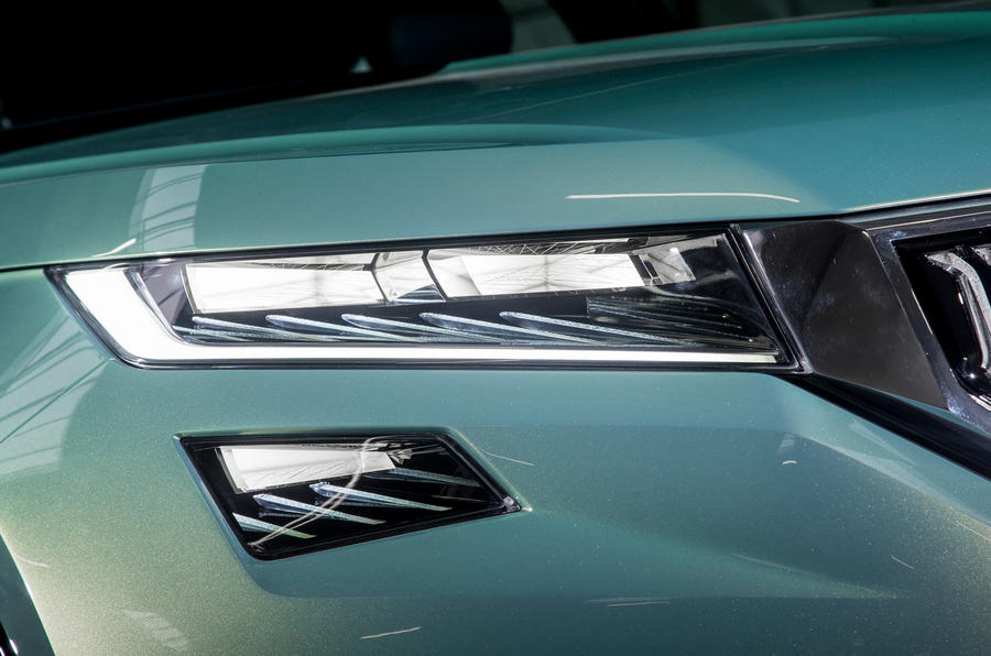 Skoda Vision S LED headlights