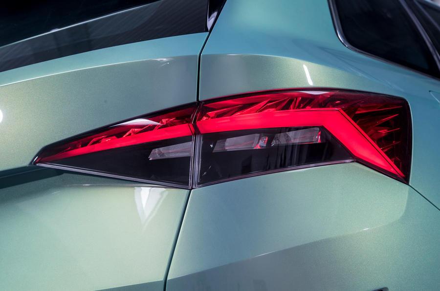 Skoda Vision S rear lights
