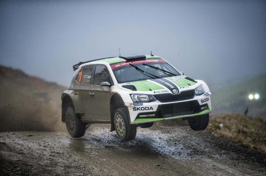 Skoda WRC car
