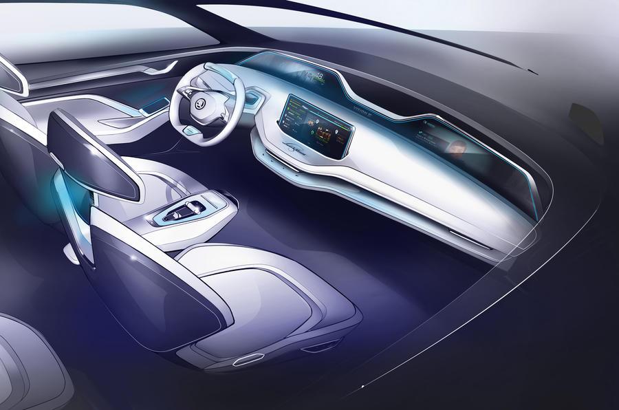 Skoda Vision E concept interior