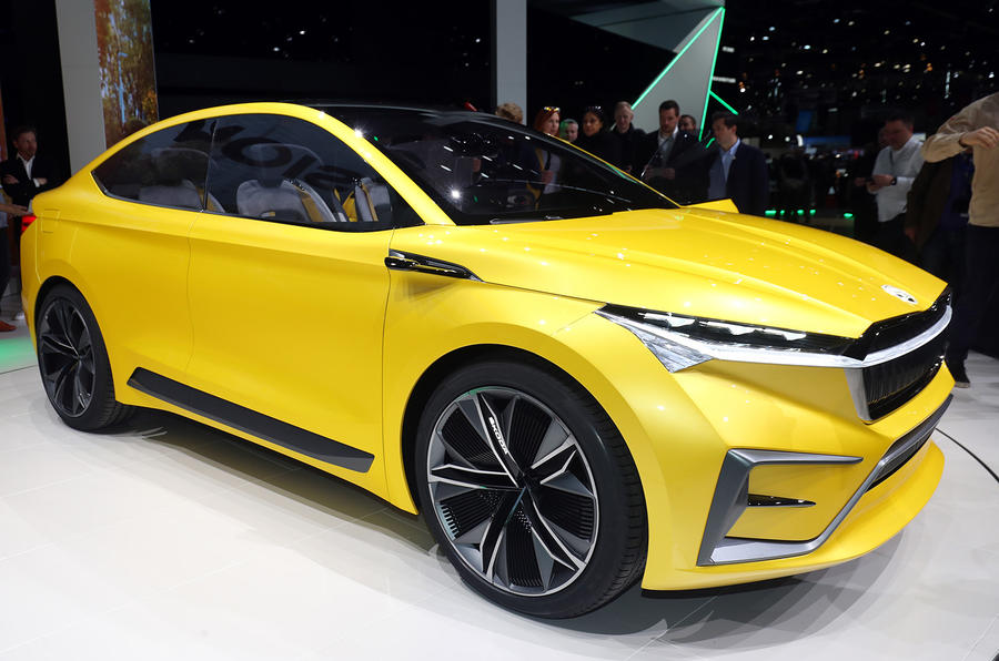 Skoda Previews Future Electric Models With Vision IV