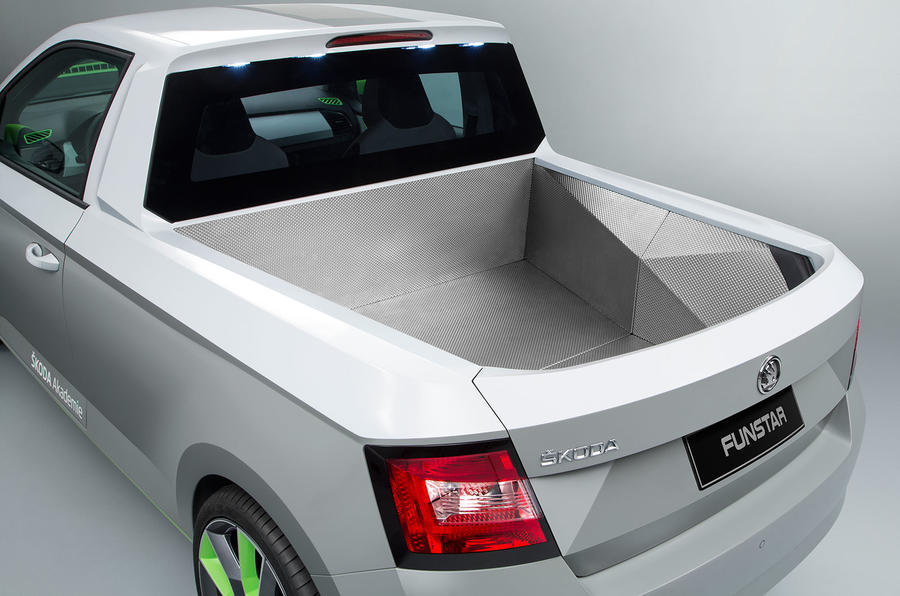 skoda unveils fabia funstar pickup concept car autocar. Black Bedroom Furniture Sets. Home Design Ideas