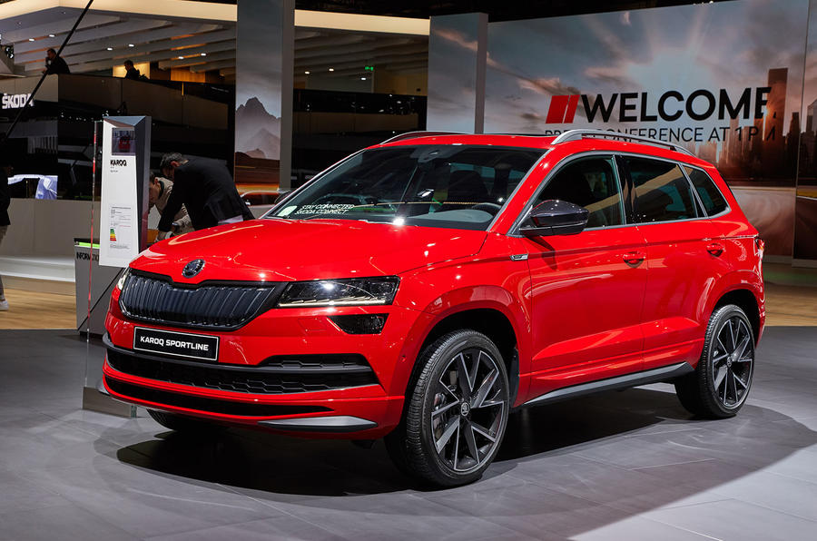 skoda karoq sportline revealed as suv s sporty flagship autocar. Black Bedroom Furniture Sets. Home Design Ideas