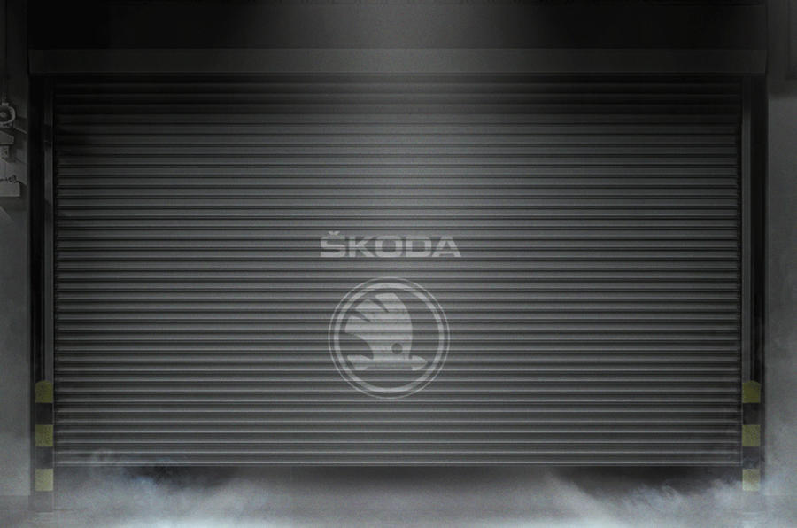 Skoda garage door teaser