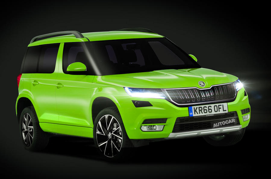 2018 skoda yeti to take inspiration from new kodiaq autocar. Black Bedroom Furniture Sets. Home Design Ideas