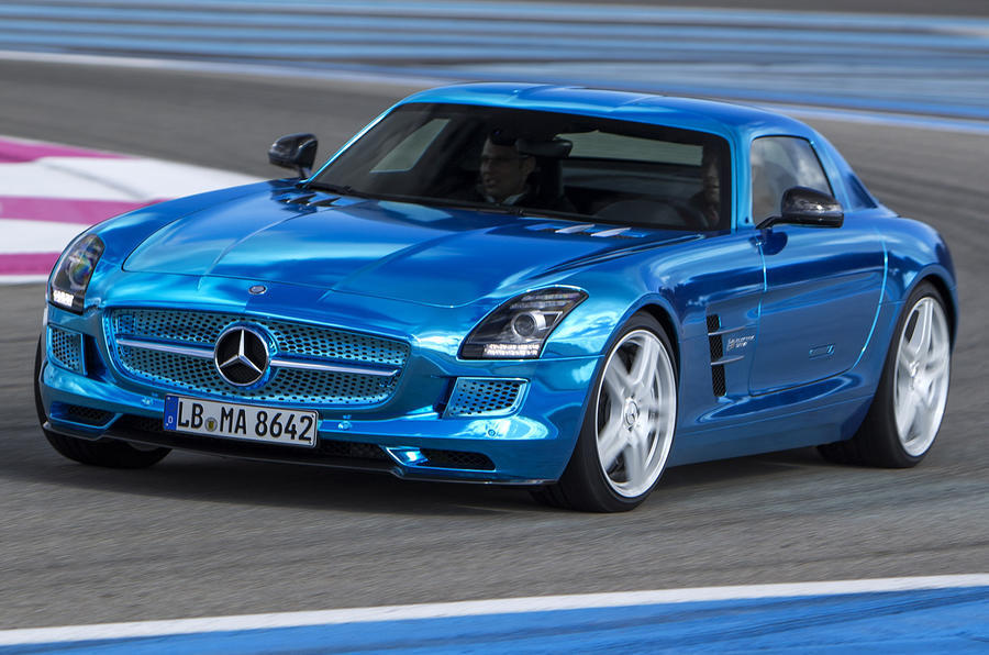 Mercedes-AMG SLS Electric Drive - cornering front