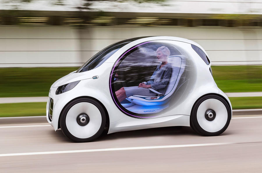 One Seater Car >> Smart Vision EQ makes public debut as 'electric city car of future' | Autocar