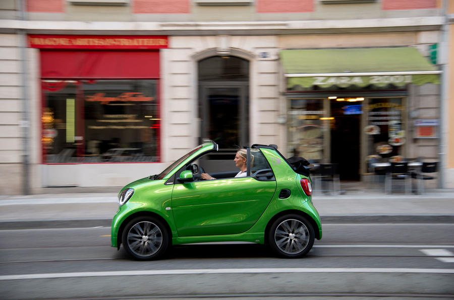 Smart Fortwo Cabriolet Electric Drive on the road