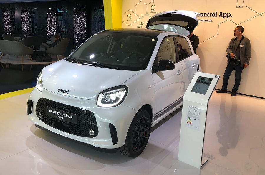 Smart EQ ForTwo at Frankfurt motor show - left