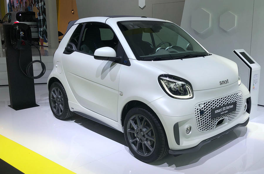Smart EQ ForTwo at Frankfurt motor show - right