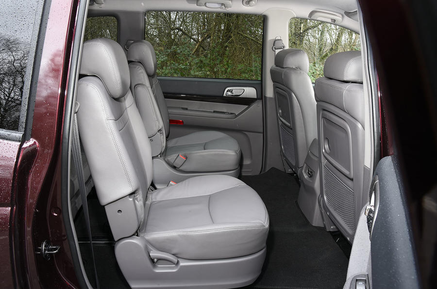 Ssangyong Turismo rear seats