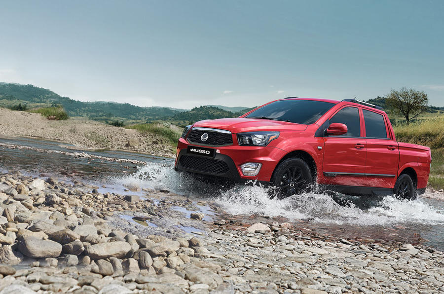 Ssangyong Musso off-roading