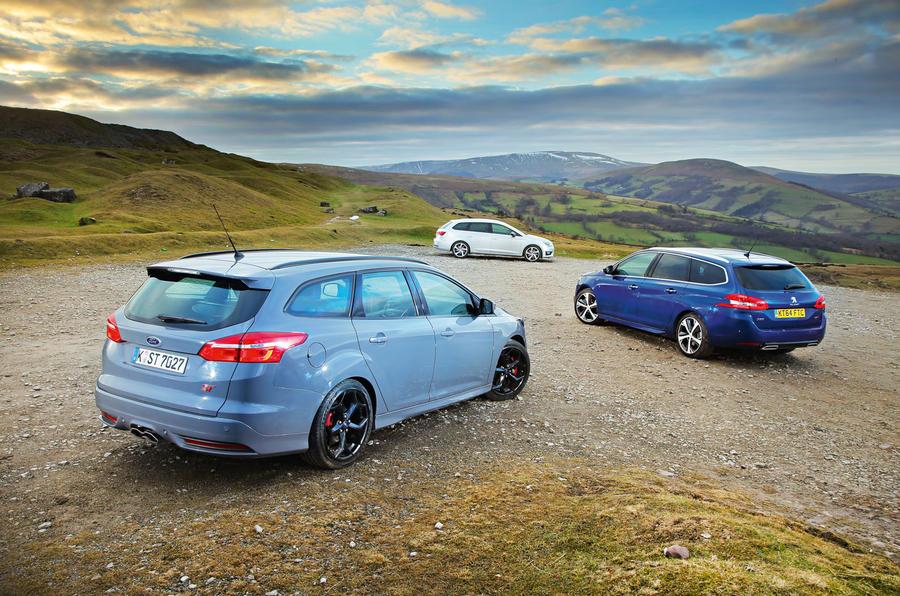 Ford Focus ST estate vs Peugeot 308 SW and Seat Leon estate ...