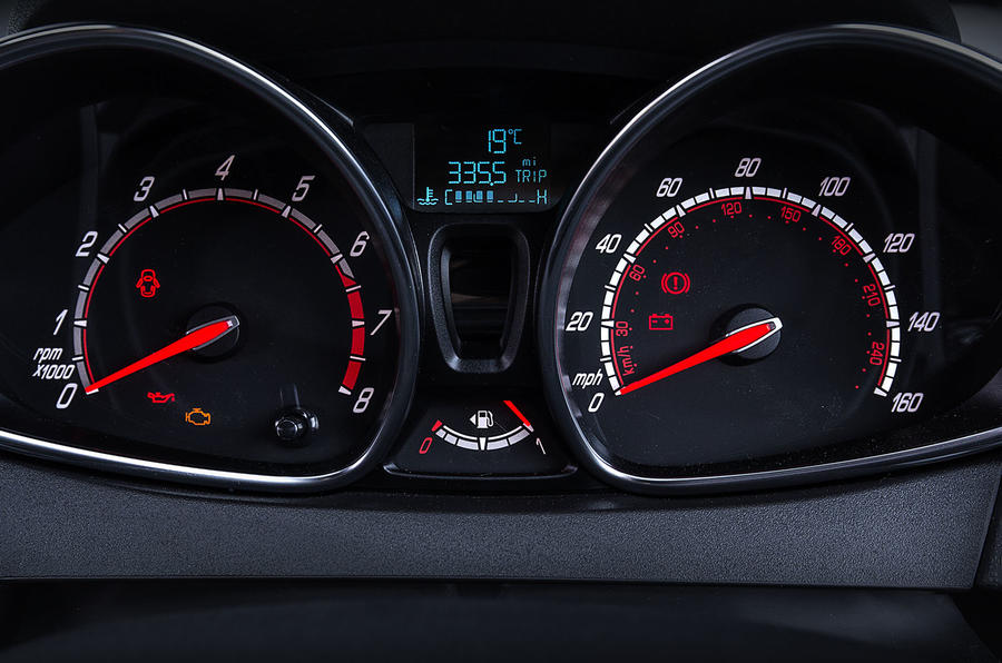 Ford Fiesta ST200 instrument cluster