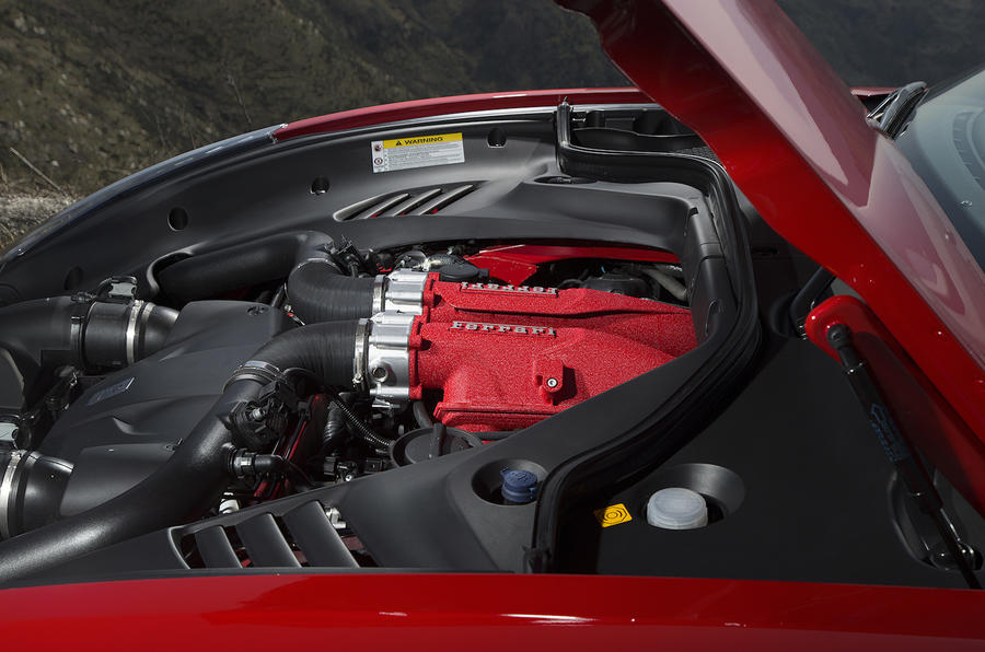 3.8-litre V8 Ferrari California T engine