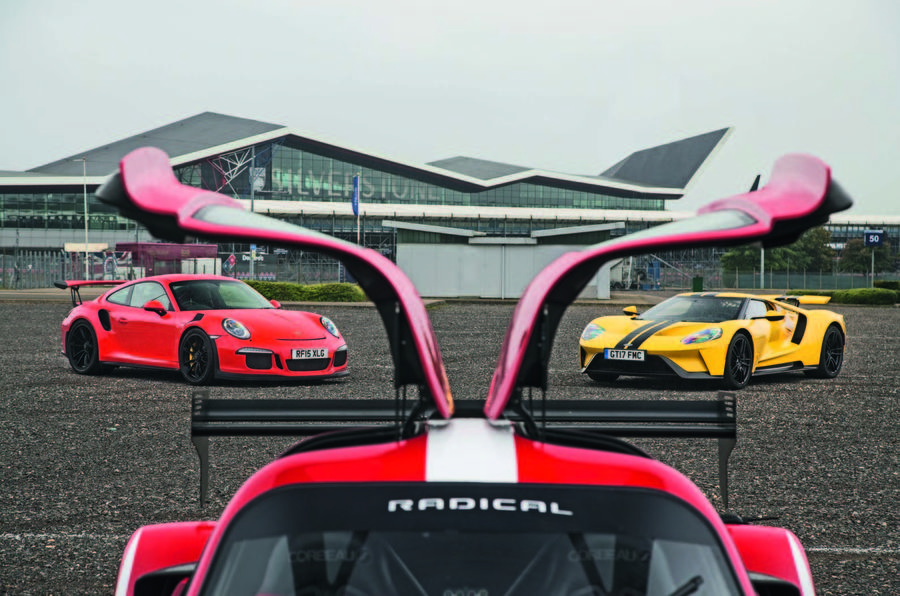 Ford Gt Vs Radical Rxc Turbo Vs Porsche 911 Gt3 Rs Supercar Battle