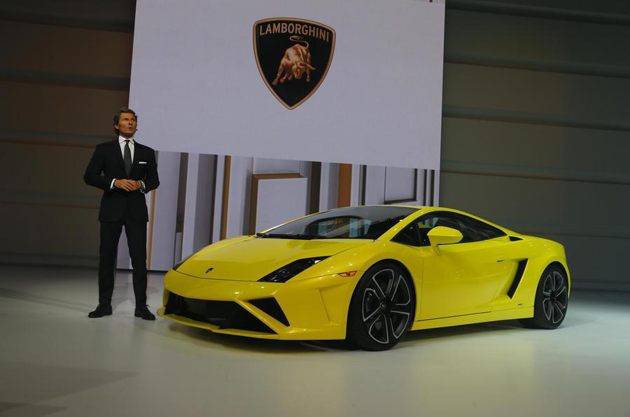 Stephan Winkelmann with Lamborghini Gallardo