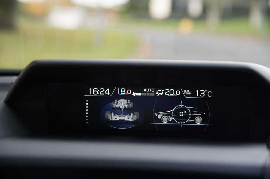 Subaru Impreza information screen