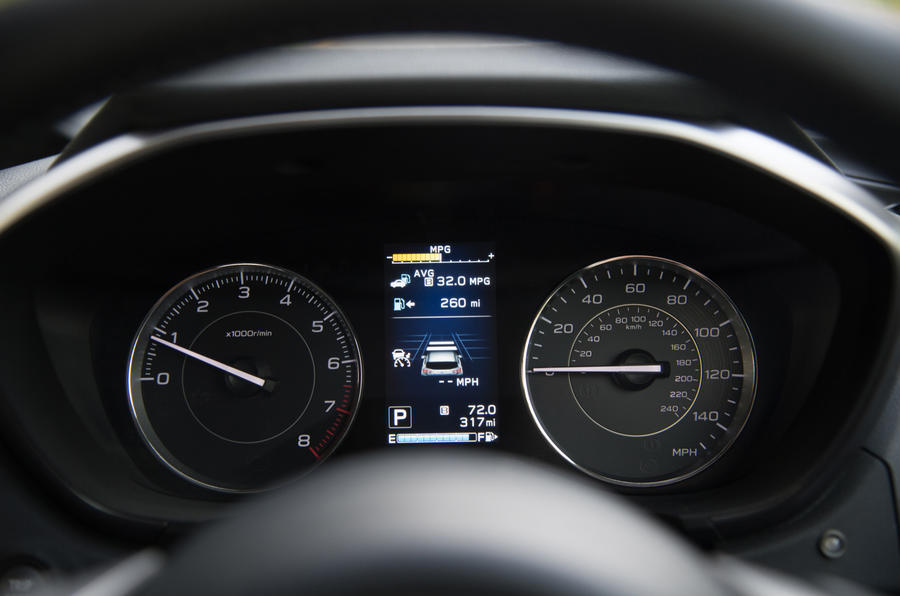 Subaru Impreza instrument cluster