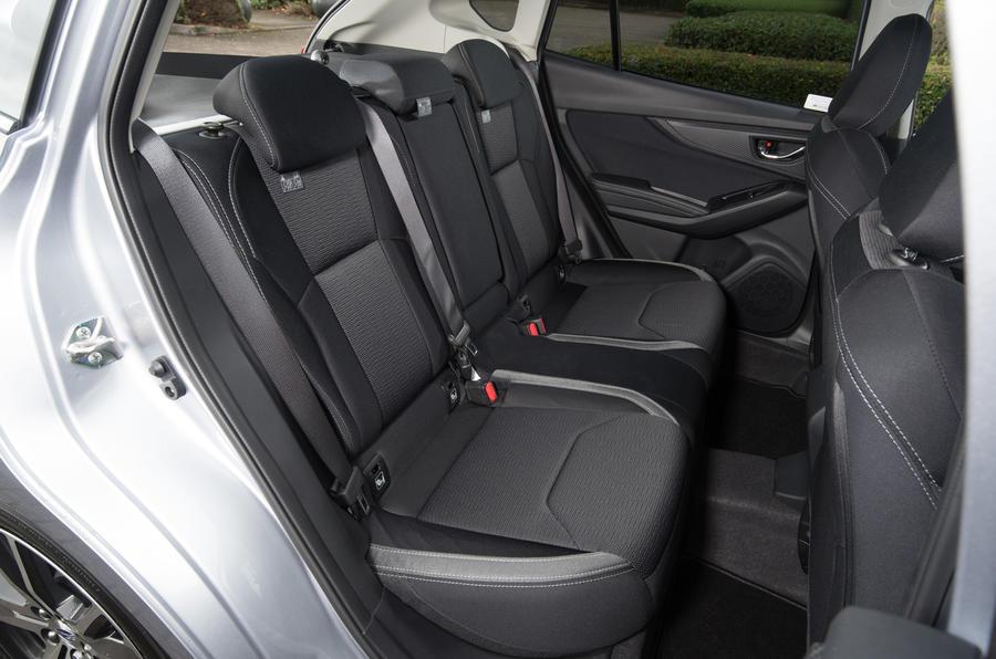 Subaru Impreza rear seats
