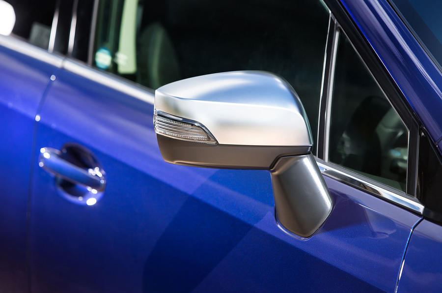 Satin silver Subaru Levorg wing mirror