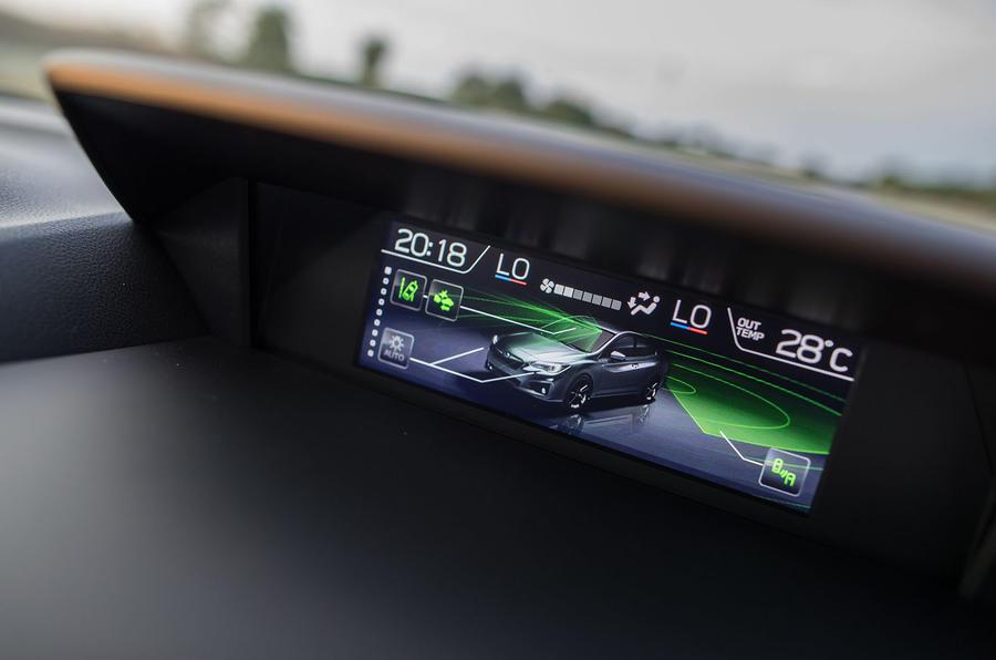Subaru XV information display