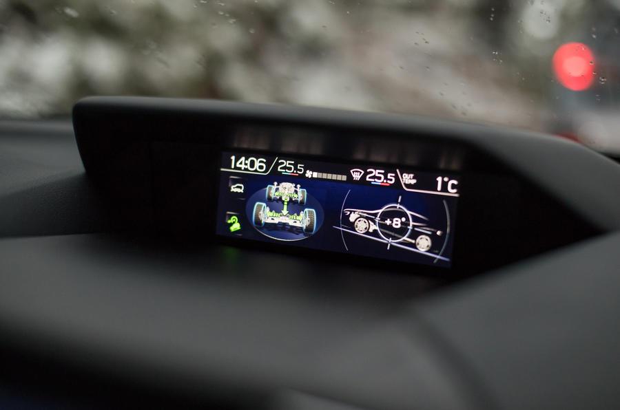 Subaru XV axle articulation monitor