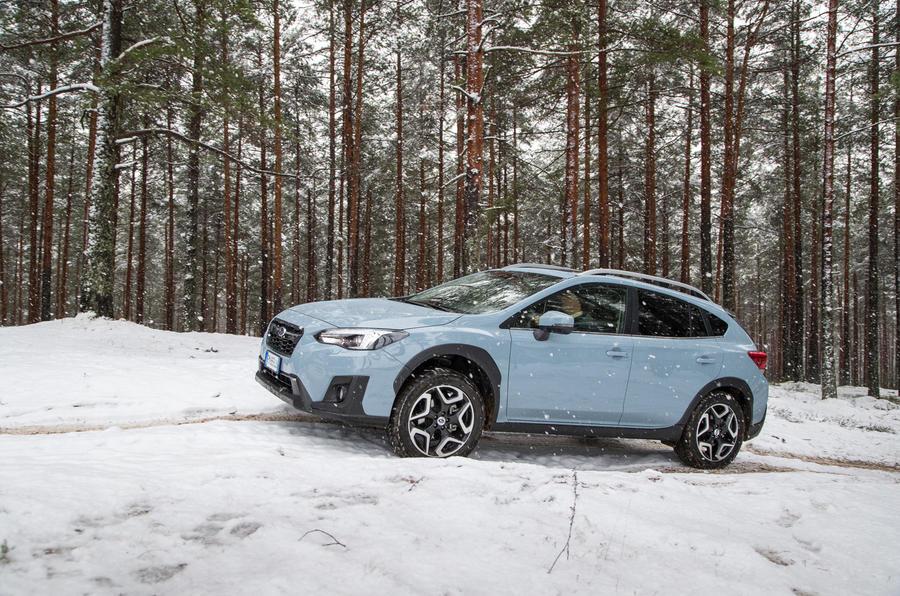 Subaru XV gravel track