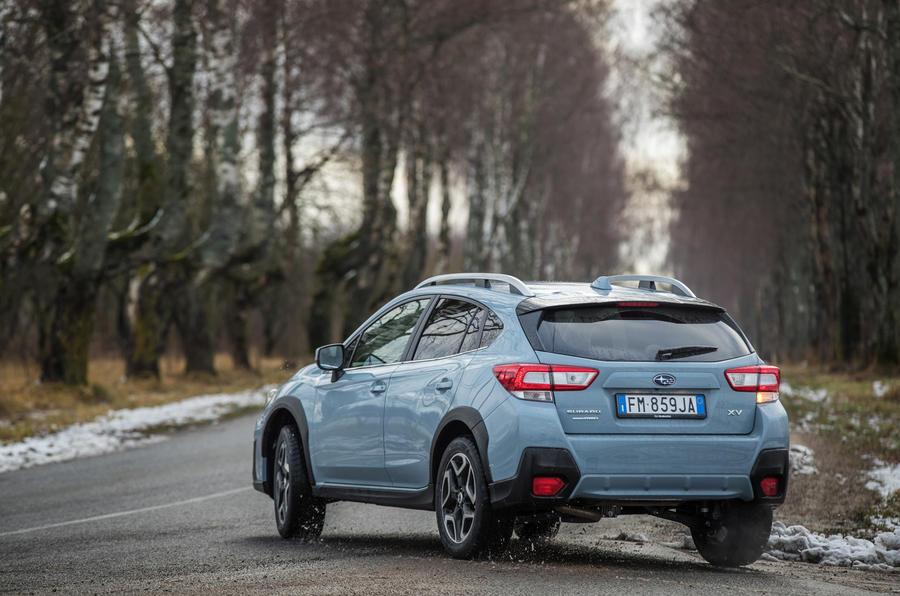 Subaru XV rear cornering